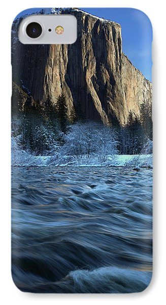 Early Morning Light On El Capitan During Winter At Yosemite National Park IPhone Case