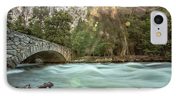 Early Morning On The Merced River IPhone Case