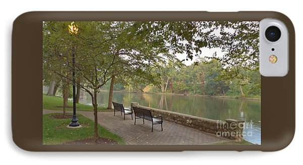 Early Morning Overlook   St. Joe River    October   Indiana IPhone Case