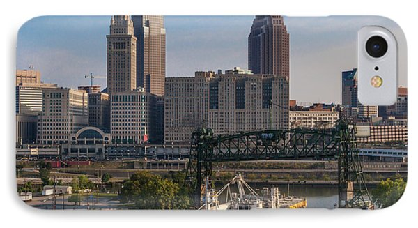 Early Morning Transport On The Cuyahoga River IPhone Case