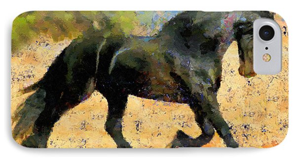 Ebony The Horse - Abstract Expressionism IPhone Case