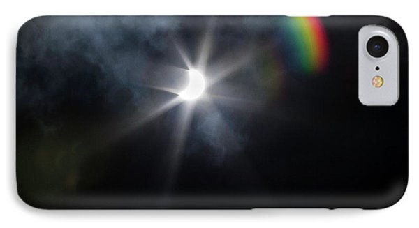 Solar Eclipse 2017 And Rainbow IPhone Case
