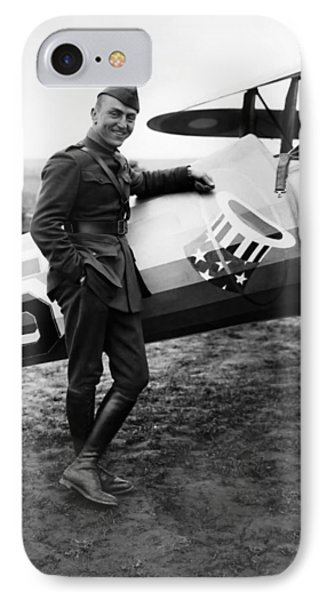 Airplane iPhone 8 Case - Eddie Rickenbacker - Ww1 American Air Ace by War Is Hell Store