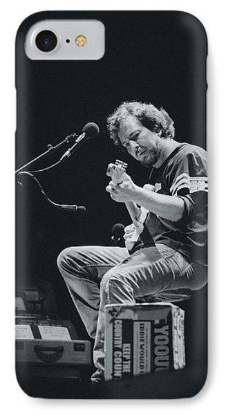 Eddie Vedder Playing Live IPhone Case