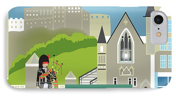 Edinburgh Scotland Horizontal Scene IPhone Case