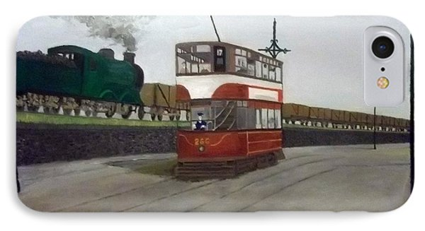 Edinburgh Tram With Goods Train IPhone Case