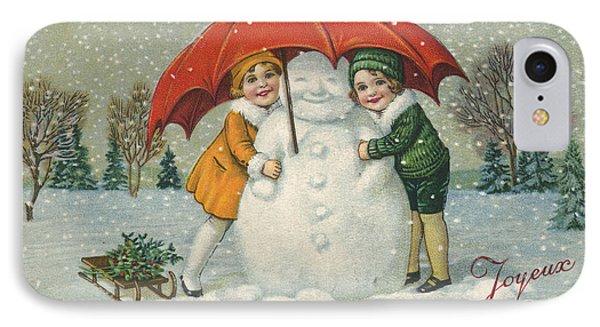 Edwardian Christmas Card IPhone Case