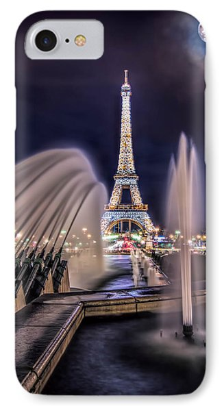 Eiffel And The Fountain IPhone Case