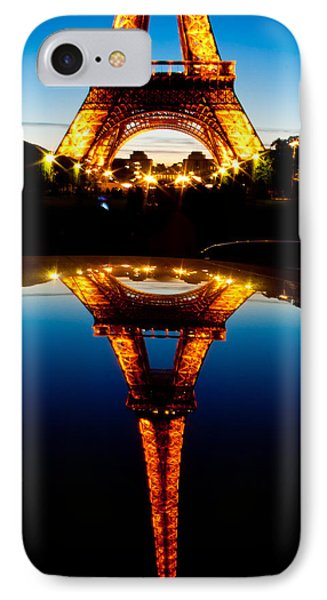 Eiffel Tower Reflection IPhone Case