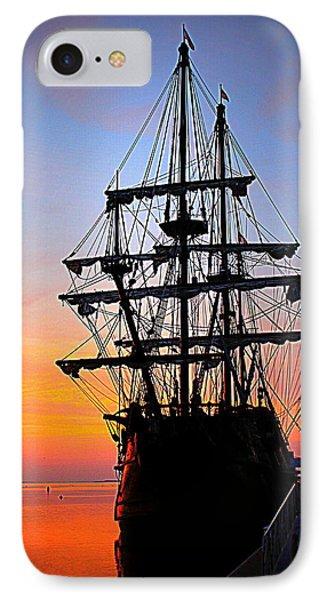 El Galeon At Sunrise IPhone Case