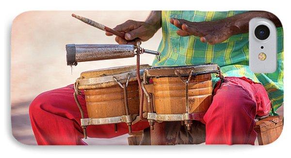 Drum iPhone 8 Case - El Son De Cuba by Delphimages Photo Creations