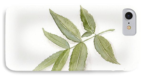 Elderberry Leaf IPhone Case