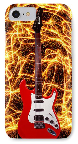 Electric Guitar With Sparks IPhone Case