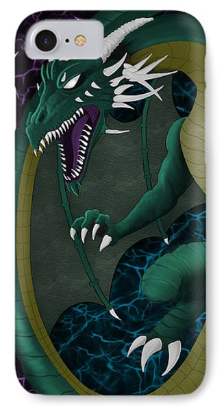 Electric Portal Dragon IPhone Case