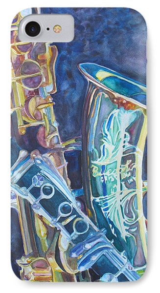 Saxophone iPhone 8 Case - Electric Reeds by Jenny Armitage
