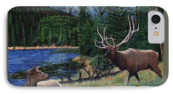 Elk At Beaver Lake  Yellowstone IPhone Case