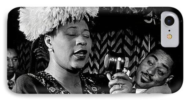 Ella Fitzgerald Dizzy Gillespie And Ray Brown William Gottlieb Photo Nyc 1947-2015 IPhone Case