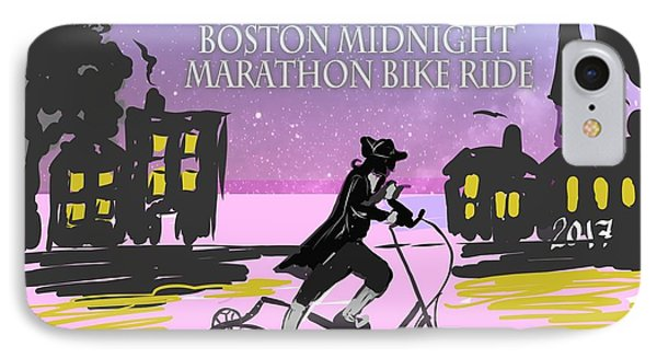 elliptigo meets the Midnight Ride IPhone Case