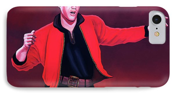 Rock And Roll iPhone 8 Case - Elvis Presley 4 Painting by Paul Meijering