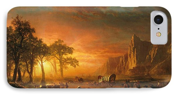 Emigrants Crossing The Plains - 1867 IPhone Case