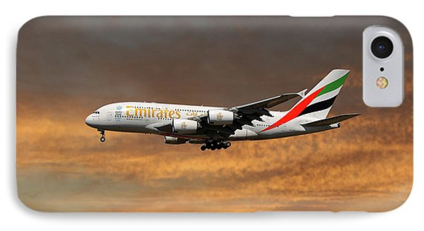 Jet iPhone 8 Case - Emirates Airbus A380-861 3 by Smart Aviation