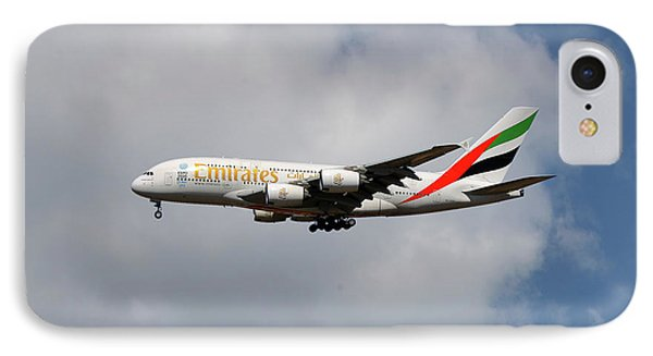 Jet iPhone 8 Case - Emirates Airbus A380-861 5 by Smart Aviation