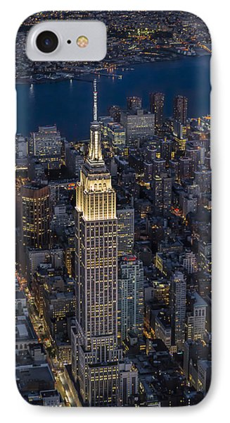 Empire State Building Aerial View IPhone Case