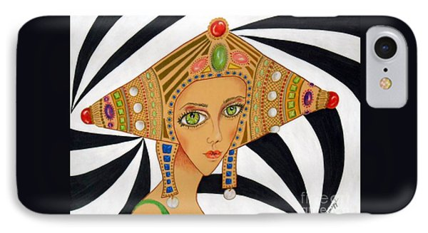 Empress Exotica -- Whimsical Exotic Woman IPhone Case
