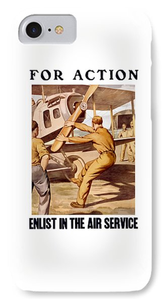 Airplane iPhone 8 Case - Enlist In The Air Service by War Is Hell Store