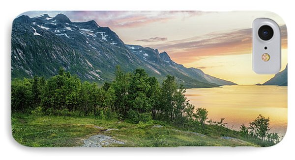 Ersfjord Sunset IPhone Case