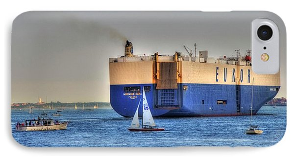 IPhone Case featuring the photograph Eukor Car Carrier Ship - Boston Harbor by Joann Vitali