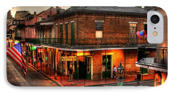 French iPhone 8 Case - Evening On Bourbon by Greg and Chrystal Mimbs