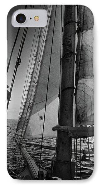 Evening Sail Bw IPhone Case