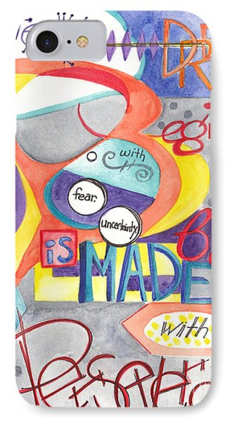 IPhone Case featuring the painting Every Dream Begins by Erin Fickert-Rowland
