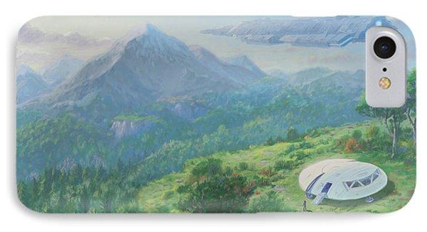 Exploring New Landscape Spaceship IPhone Case