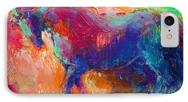 Expressive Stallion Painting By IPhone Case