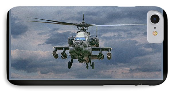 Helicopter iPhone 8 Case - Face Of Death Ah-64 Apache Helicopter by Randy Steele