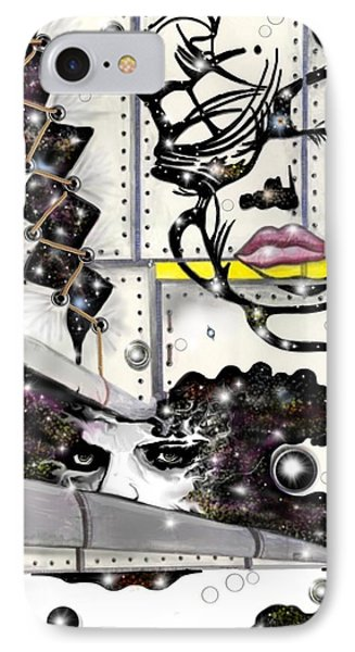 Faces In Space IPhone Case