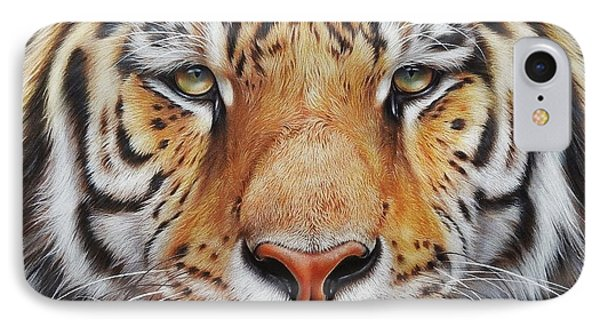 Faces Of The Wild - Amur Tiger IPhone Case
