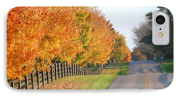 Fall In Horse Farm Country IPhone Case