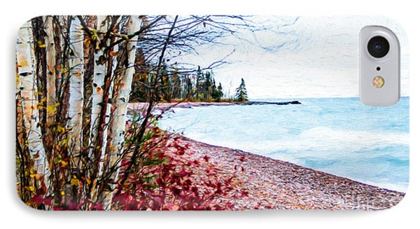 Fall On Lake Superior IPhone Case
