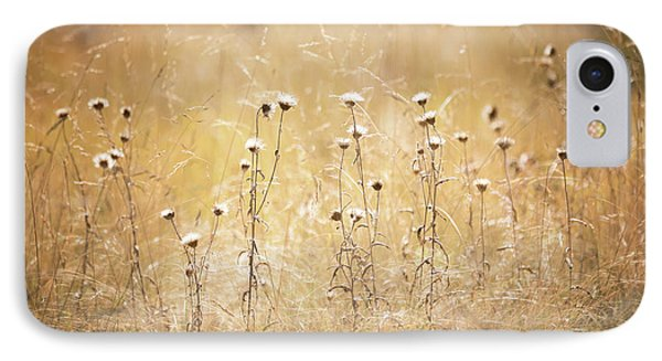 IPhone Case featuring the photograph Fall Thistle  by Saija Lehtonen