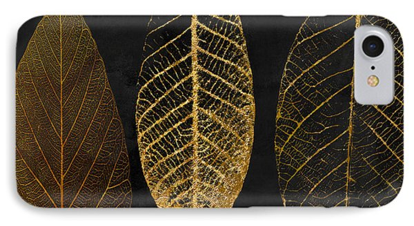 White iPhone 8 Case - Fallen Gold II Autumn Leaves by Mindy Sommers