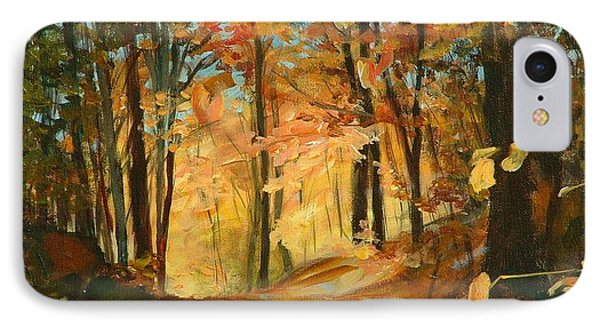 Fall's Radiance In Quebec IPhone Case
