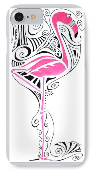 Fanciful Flamingo IPhone Case