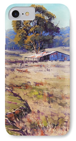 Rural Scenes iPhone 8 Case - Farm Shed Pyramul by Graham Gercken
