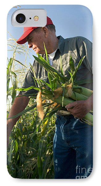Farmer With Corn IPhone Case