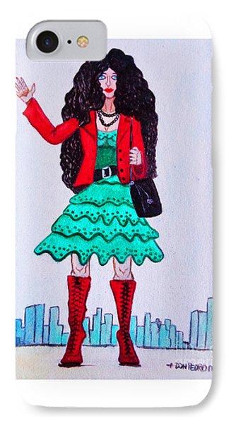 Fashionist Hailing A Taxi IPhone Case