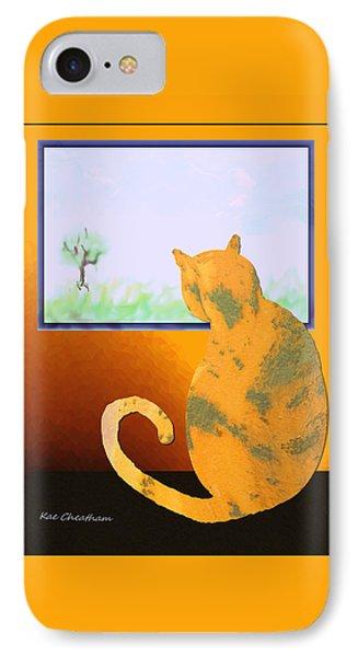 Fat Cat At Her Window IPhone Case