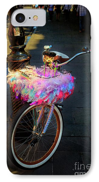 IPhone Case featuring the photograph Feather Jazz Bicycle by Craig J Satterlee